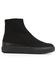 Tod's Flat Rubber Sole Boots Black
