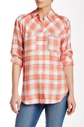 Ace Delivery Plaid Button Down Orange