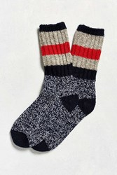 Woolrich Rugby Stripe Sock Charcoal