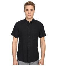 Billy Reid Short Sleeve Tuscumbia Shirt Black Men's Short Sleeve Button Up