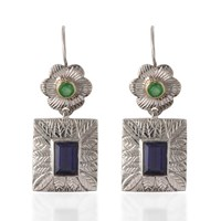 Emma Chapman Jewels Hayami Emerald Earrings Blue Green