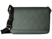 Jack Spade Barrow Leather Messenger Green Messenger Bags