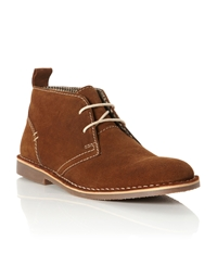 Hampstead Suede Lace Up Desert Boots Tan