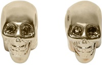 Givenchy Brass Skull Magnetic Earrings