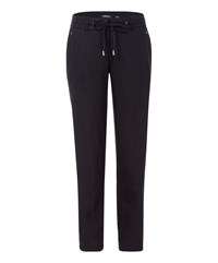 Olsen Linen Trousers Black