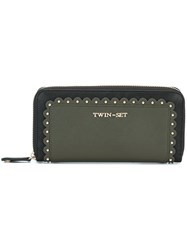 Twin Set Studded Wallet Green