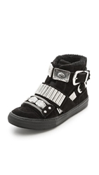 Toga Pulla Shearling Lined Sneakers Black