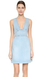 Stella Mccartney Anne Denim Dress Sun Faded Blue