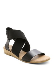 Andre Assous Malta Colorblocked Sandals Black