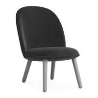 Normann Copenhagen Ace Lounge Chair Velour Grey