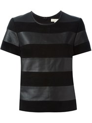 Michael Michael Kors Striped T Shirt Black