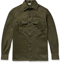 Loewe Cotton Overshirt Army Green
