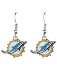 Aminco Miami Dolphins Logo Earrings Team Color
