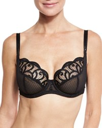 Lejaby Roxane Full Cup Lace Bra Black