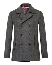 Ted Baker Biza Wool Peacoat Charcoal