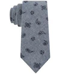 Tommy Hilfiger Men's Open Spaced Pine Paisley Print Skinny Tie