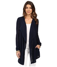 Lilly Pulitzer Chesapeake Cardigan True Navy Women's Sweater
