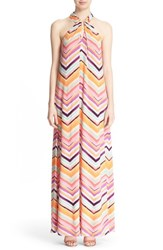 Women's Trina Turk 'Rilee' Chevron Stripe Maxi Dress