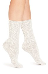 Women's Wigwam 'Cypress' Crew Socks White Grey