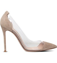 Gianvito Rossi Calabria Leather Courts Taupe