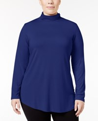 Jm Collection Plus Size Turtleneck Top Only At Macy's Bright Sapphire