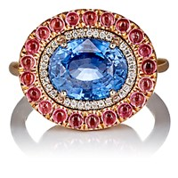 Irene Neuwirth Diamond Collection Women's Mixed Gemstone Ring No Color