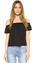 Bella Dahl Off Shoulder Top Black