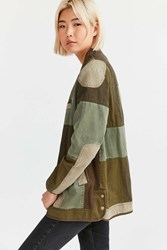 Silence And Noise Patchwork Surplus Wrap Jacket Olive