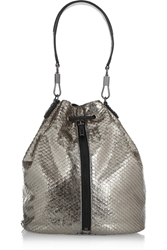 Elizabeth And James Cynnie Sling Metallic Snake Effect Leather Backpack