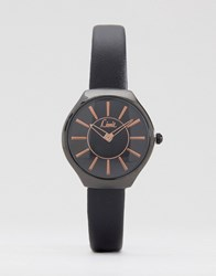 Limit Black Strap Watch With Black Dial Black