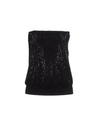 Met Topwear Tube Tops Women Black