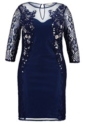 Frock And Frill Curve Zoelle Cocktail Dress Party Dress Dark Navy Dark Blue