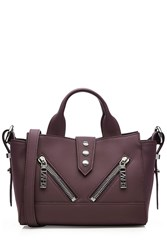 Kenzo Leather Mini Kalifornia Tote Purple