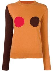 Paul Smith Polka Dot Jumper Yellow Orange