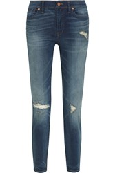 Madewell The High Riser Distressed Skinny Jeans Blue