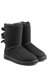 Ugg Australia Bailey Bow Suede Boots Black
