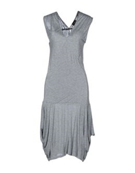 Richmond Denim Knee Length Dresses Light Grey