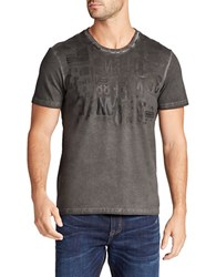 William Rast Graphic Cotton Tee Grey