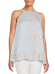 Saks Fifth Avenue Embroidered Tank Cloud
