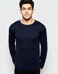 Selected Homme Crew Neck Knitted Jumper Navy