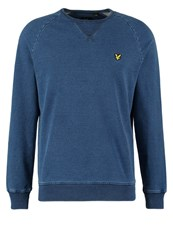 Lyle And Scott Sweatshirt Light Indigo Mottled Light Blue