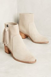 Anthropologie Miss Albright Amarie Tassel Booties Taupe