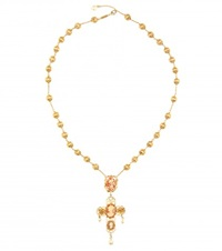 Dolce And Gabbana Embellished Necklace Gold