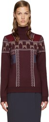 Peter Pilotto Burgundy Ski Knit Pullover