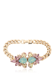 Anton Heunis Double Flower Bracelet Gold Purple