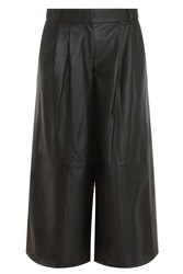 Tibi New York Pleated Leather Trousers