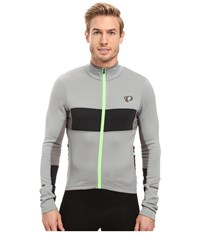 Pearl Izumi Elite Escape Thermal Long Sleeve Jersey Monument Black Men's Clothing Gray
