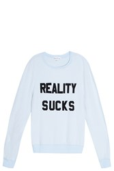 Wildfox Couture Reality Sucks Sweater Blue