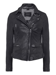 Oakwood Black Video Leather Jacket