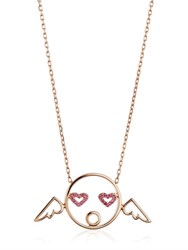 Ruifier Cupid Pendant Necklace With Diamonds